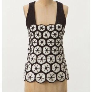 Anthropologie Knitted and knotted Kaneohe tank M